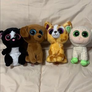 Ty. Lot of 4 Beanie Boos.